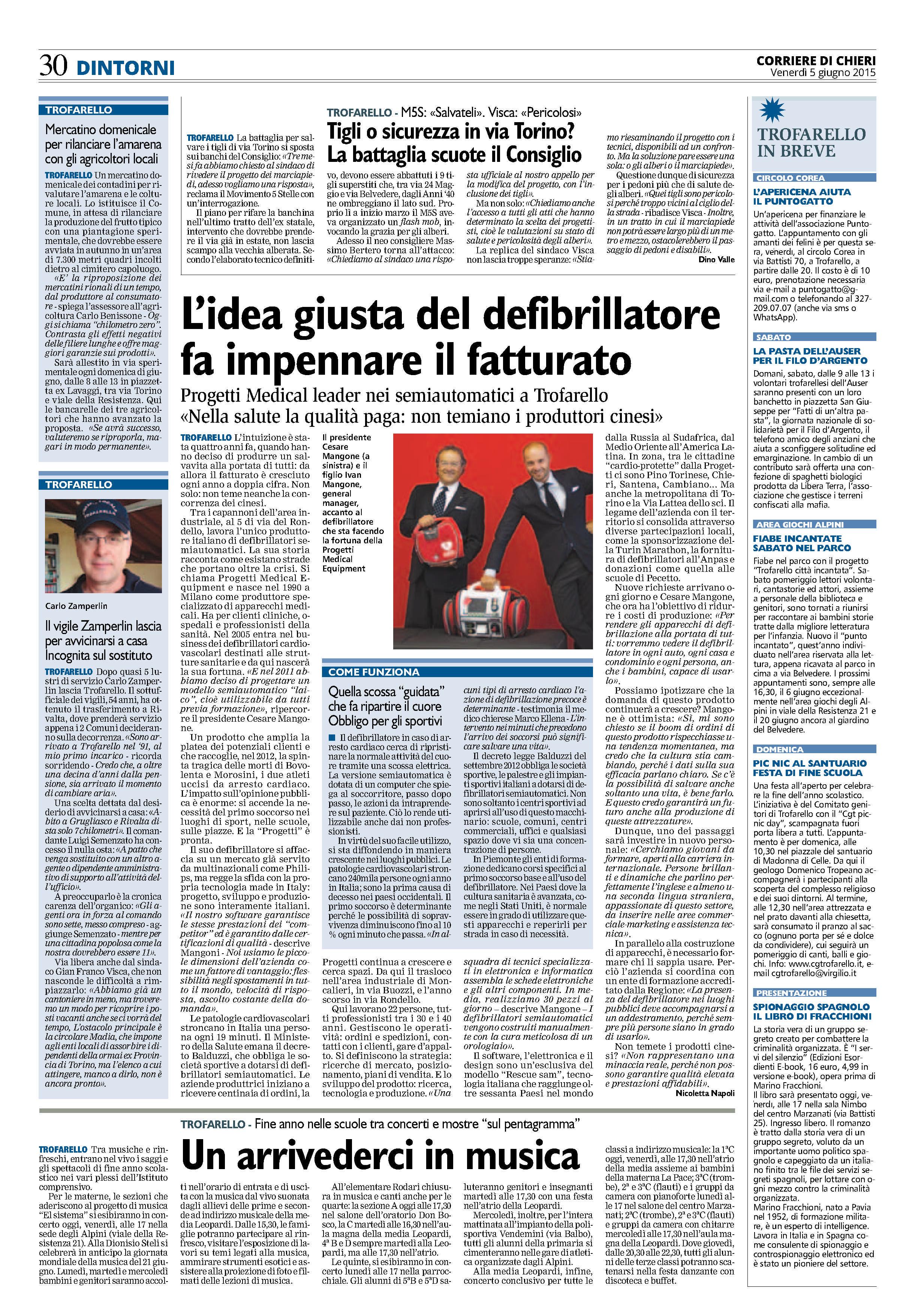 Su Corriere di Chieri. ARTICOLO