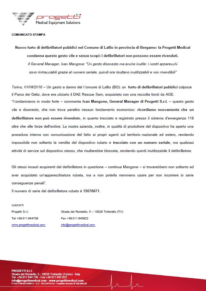 2016_CS Furto Comune di Lallio