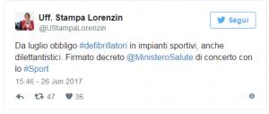 Lorenzin   da luglio defibrillatori in tutti gli impianti sportivi   Sanità   ANSA.it